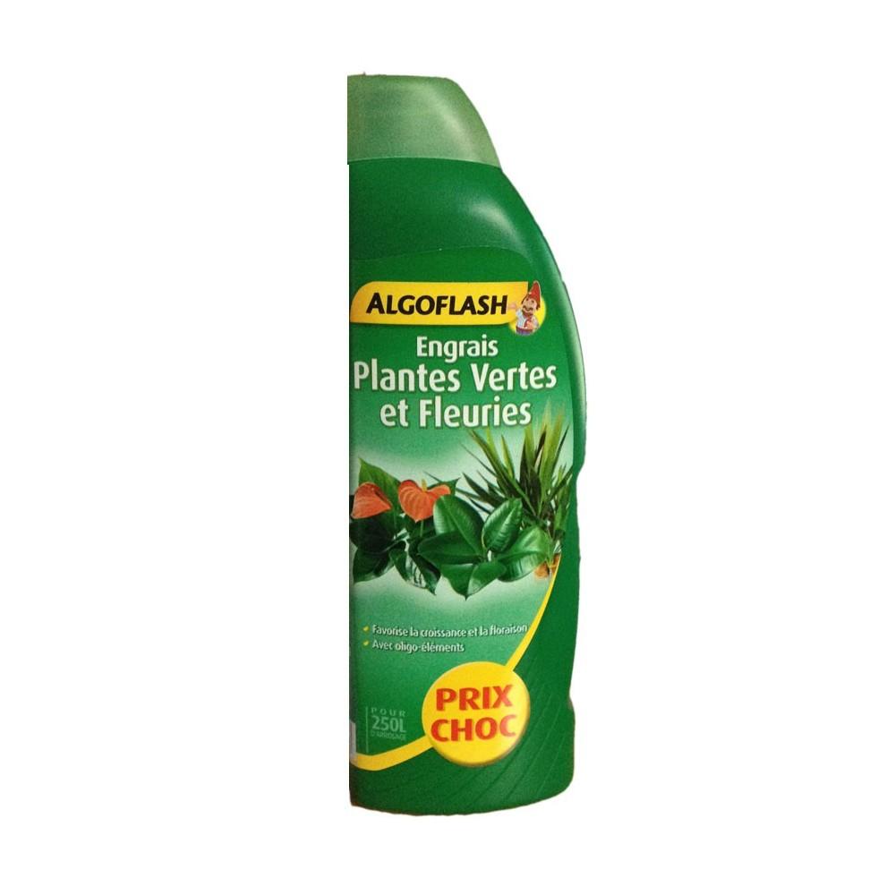Engrais plantes vertes et fleuries 1l algoflash - Engrais plante verte ...