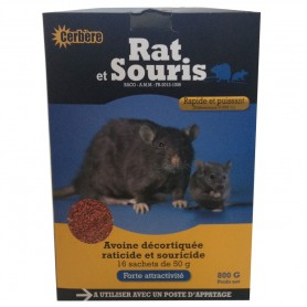 Rat et  Souris Céréal Décortiquée 800g