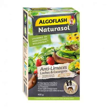 Anti-limaces, loches et escargots Algoflash Naturasol 400g