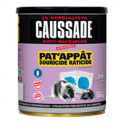 Pat'Appât Souricide Raticide Caussade 200g