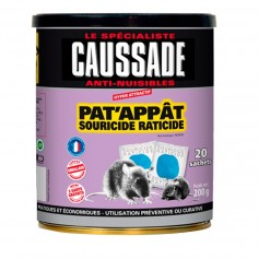 Pat'Appât Souricide Raticide Caussade 200g