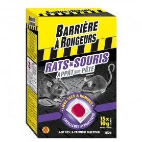 Rats et souris Appât sur pâte Barrière à rongeurs 150g