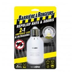 Répulsif rats et souris 2 en 1 ampoule LED et Ultrasons Barrière à rongeurs