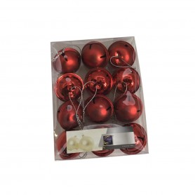 Set de 12 grelots 40mm  rouge