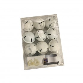 Set de 12 grelots 40mm  blanc