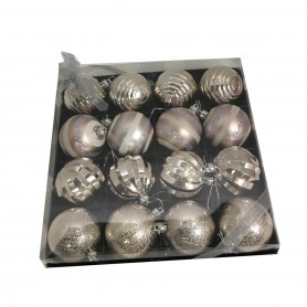 16 boules de Noël ton or
