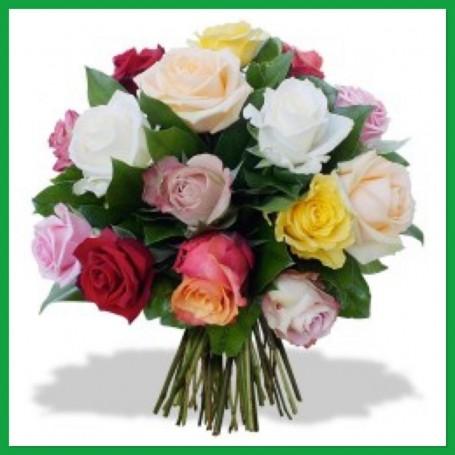 Bouquet De Rose Multicolor