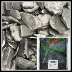 Gravier Black Slate Tumbled 30/80mm 20kg 11.95€