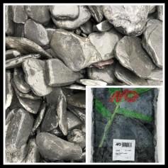 Gravier Black Slate Tumbled 30/80mm 20kg 11.95€
