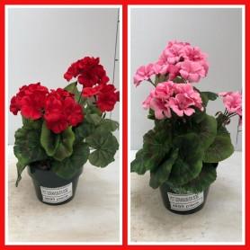 Pot Géraniums Droit en Soie 4.95€