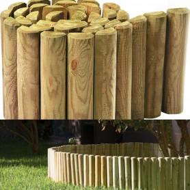 Bordure de jardin à dérouler en bois