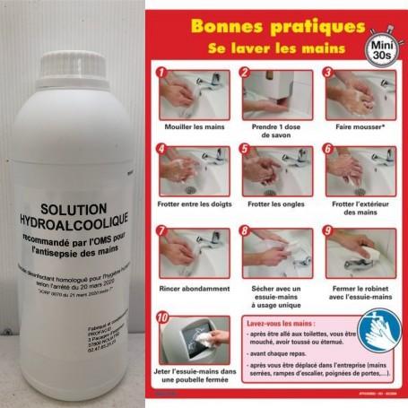 Solution Hydro Alcoolique 1Litre 7.95€