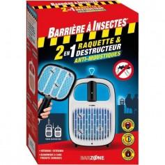 Raquette & Destructeurs Anti-Moustiques 2en1 39.95€