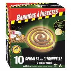 Spirales à la citronnelle + 2 socles métal 110g