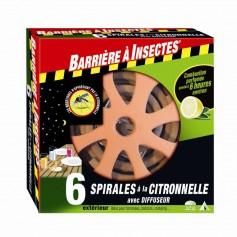 Spirales à la citronnelle avec diffuseur 7.95€