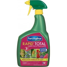 Rapid'Total Fertiligène '  Insectes et maladies 3 en 1 '  Spray 800ML 12.95€