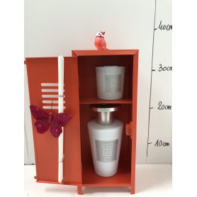 Diffuseur Coucher du soleil + sa bougie dans son casier Orange 19.95€