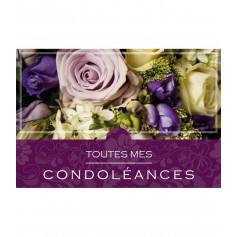 Carte de condoléances 1.50€