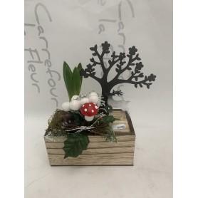 Composition jacinthe arbre métallique 6,95€