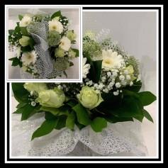 Bouquet Bulle Rond thème Blanc mélangé