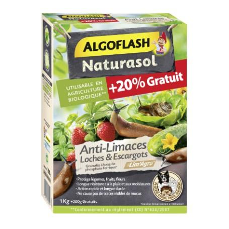 Anti-limaces, loches et escargot Algoflash Naturasol 800g