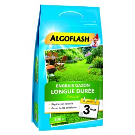 Engrais gazon longue durée 3mois en 9kg Algoflash