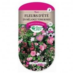 Fleurs d'été En Mélange Tons Roses