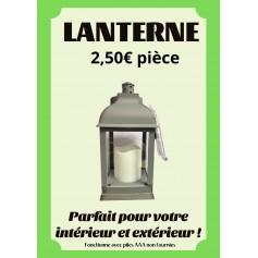Lanterne Noire à piles