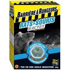 Rat et Souris - Bloc'pâte appât 300G