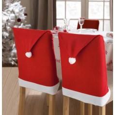 Housse de chaise Bonnet Père Noël 46x40.5cm Rouge