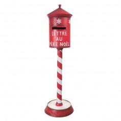 Boîte aux lettres Rouge avec LED 35x35x122cm